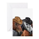 Cowboy Horses Greeting Cards (Pk of 10)