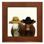Country Couple Framed Tile
