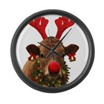Christmas Cow Large Wall Clock
