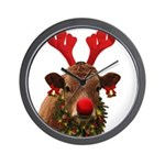 Christmas Cow Wall Clock