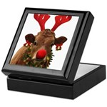 Christmas Cow Keepsake Box
