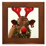 Christmas Cow Framed Tile