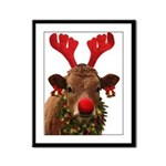 Christmas Cow Framed Panel Print
