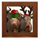 Santa & Friends Framed Tile