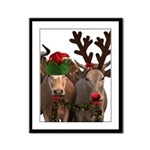 Santa & Friends Framed Panel Print