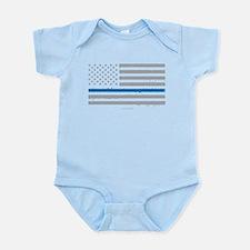 Law Enforcement Blue Line Flag Body Suit