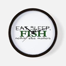 Eat Sleep Fish Wall Clock