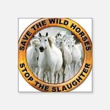 Save Wild Horses Rectangle Sticker