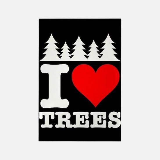 I Heart Trees Rectangle Magnet (100 pack)