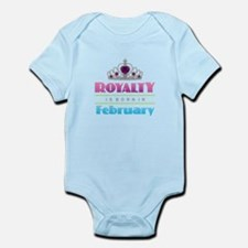 Royalty is Born in February Body Suit