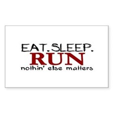 Eat Sleep Run Rectangle Decal