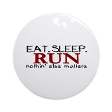 Eat Sleep Run Ornament (Round)