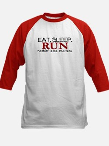 Eat Sleep Run Kids Baseball Jersey