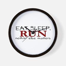 Eat Sleep Run Wall Clock