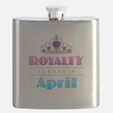 Royalty is Born in April Flask