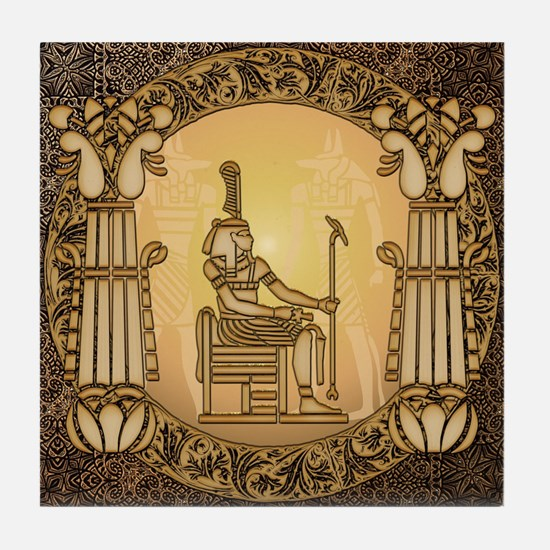 Egyptian sign and anubis Tile Coaster