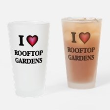 I love Rooftop Gardens Drinking Glass