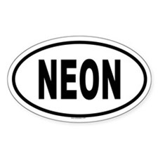 NEON Oval Decal