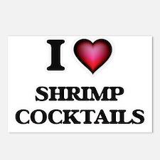 I love Shrimp Cocktails Postcards (Package of 8)