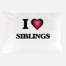 I love Siblings Pillow Case