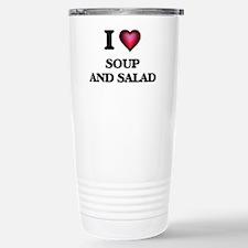 I love Soup And Salad Stainless Steel Travel Mug