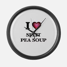 I love Split Pea Soup Large Wall Clock