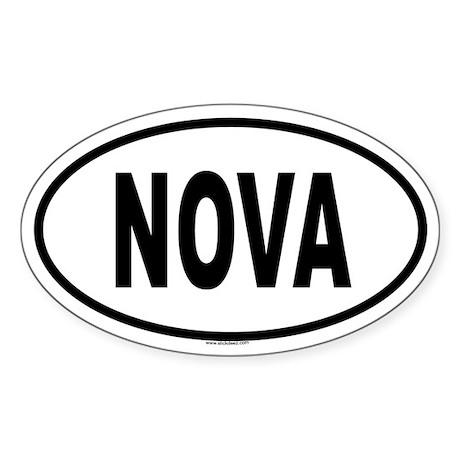 NOVA Oval Sticker