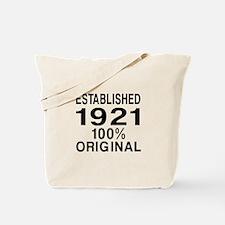 Established In 1921 Tote Bag
