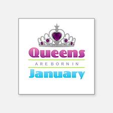 Queens are Born In January Sticker