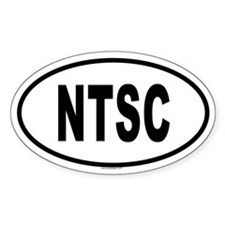 NTSC Oval Decal