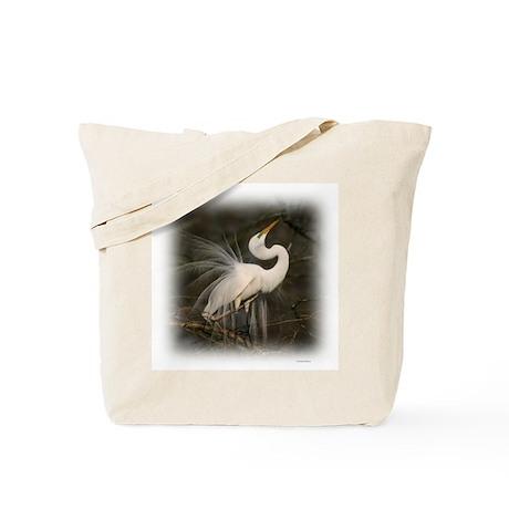Graceful Egret Tote Bag