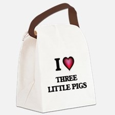 I love Three Little Pigs Canvas Lunch Bag