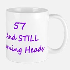 57 Still Turning Heads 2 Purple Mugs