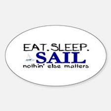 Eat Sleep Sail Oval Decal