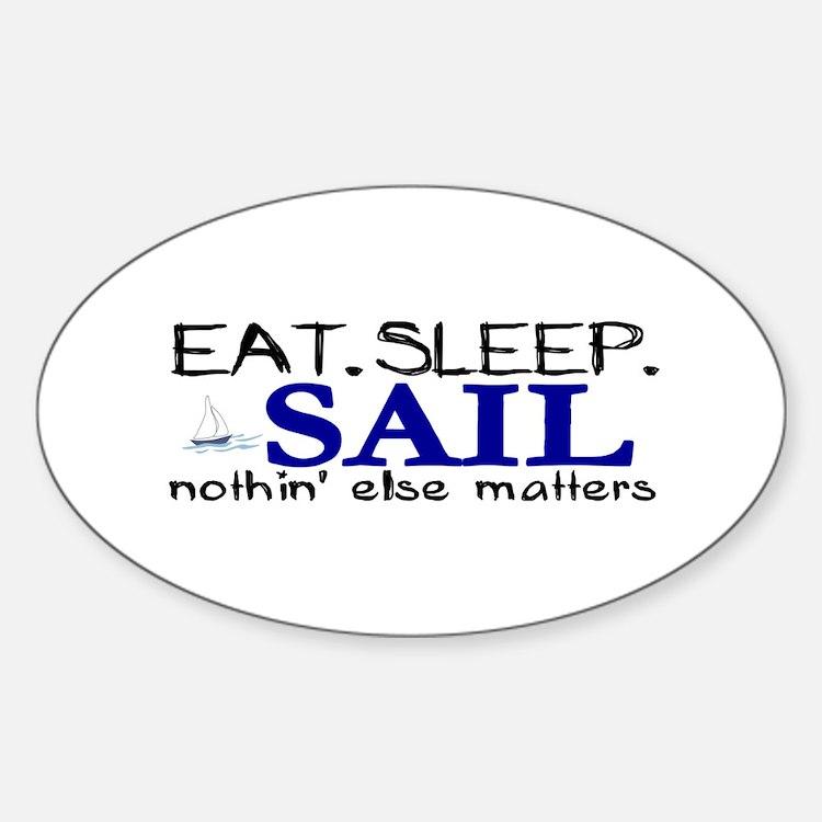 Eat Sleep Sail Oval Decal