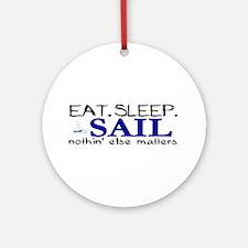 Eat Sleep Sail Ornament (Round)
