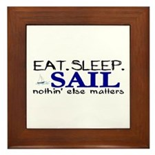 Eat Sleep Sail Framed Tile