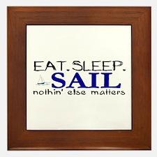 Eat Sleep Sail Framed Tile