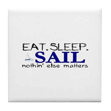 Eat Sleep Sail Tile Coaster