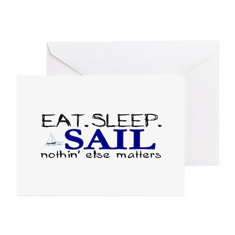 Eat Sleep Sail Greeting Cards (Pk of 10)