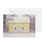 Barn at christmas Greeting Cards (10 Pack)
