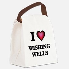 Cute Wooden wishing well Canvas Lunch Bag