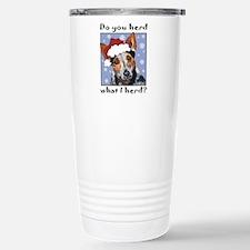 Cute Christmas agility dog Travel Mug
