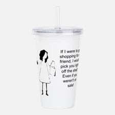 Cute Fun birthday for women Acrylic Double-wall Tumbler