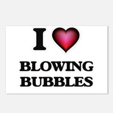 I love Blowing Bubbles Postcards (Package of 8)