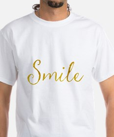 Smile Gold Faux Foil Glitter Metallic Quot T-Shirt