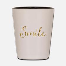 Smile Gold Faux Foil Glitter Metallic Q Shot Glass