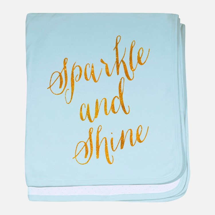 Sparkle and Shine Gold Faux Foil Meta baby blanket