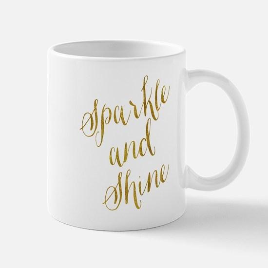 Sparkle and Shine Gold Faux Foil Metallic Gli Mugs