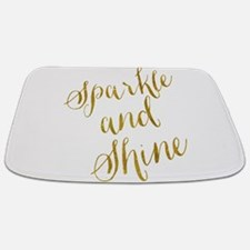 Sparkle and Shine Gold Faux Foil Metallic Bathmat